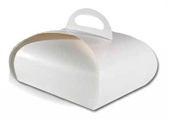 Dėžutė Tulpė balta, 10x10 cm H8 cm, 10 vnt