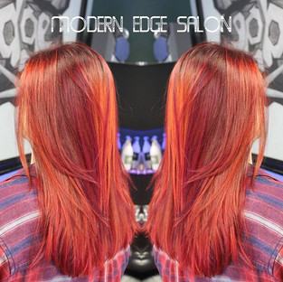 Absolutely beautiful color! #modernedgect # #modernelementproducts #immodernareyou #beforeandafter #hairtransformation #redhair #redhairdont