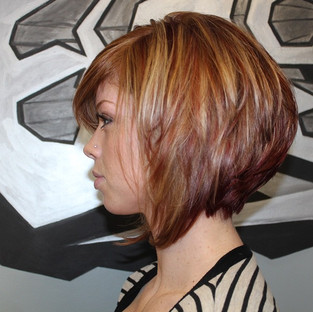 Love this clients new look! The texture of this cut is perfect for showing off her amazing color ! #blondme #igoraroyal