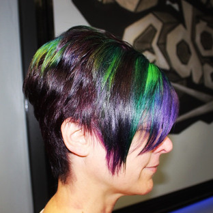 A vibrant look for one of our clients - #expression #hair #funwithcolor #modern