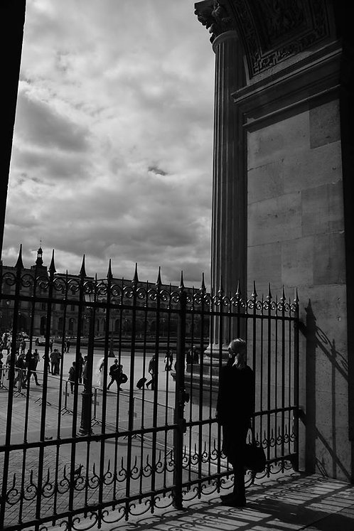 Looking Out of Le Louvre