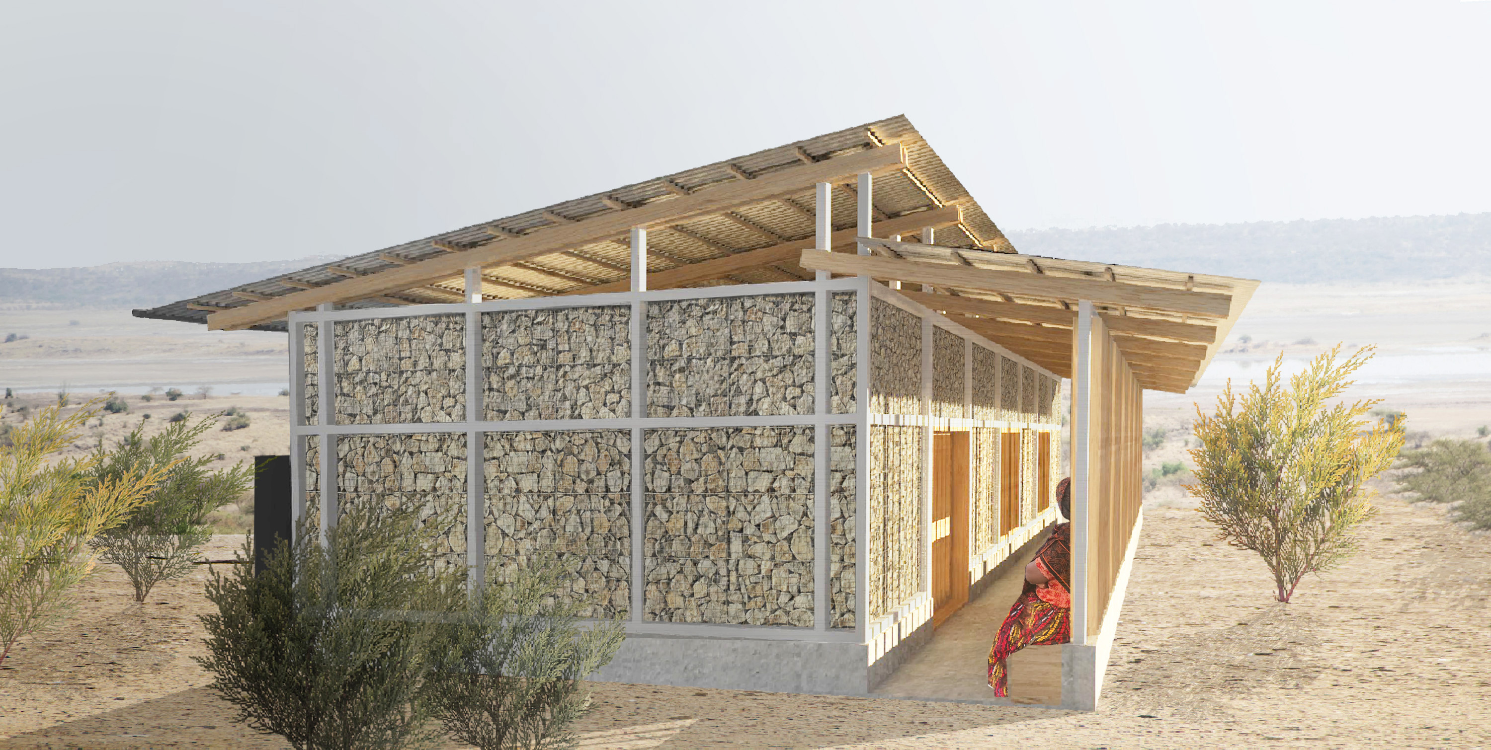 Magadi Classroom Render 2 - Outside Deta