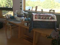 Steamer set-up for Thai Massage