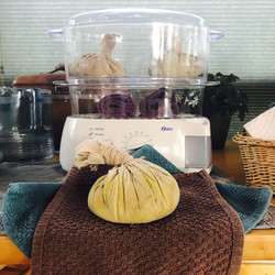 Herbal packs and Hot Towels for Thai Massage