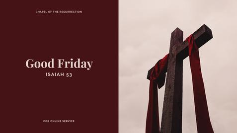 Good Friday: 10 April 2020