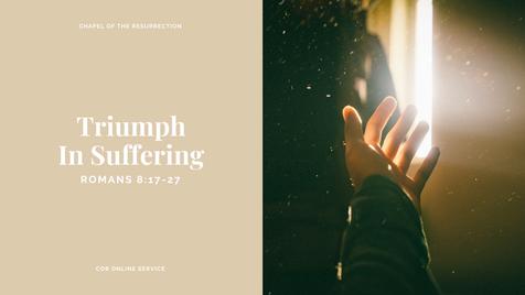 Triumph In Suffering: 18 - 19 April 2020