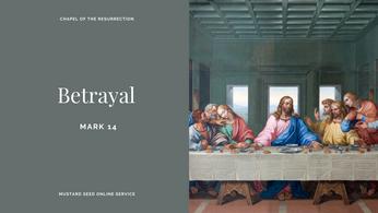 MSS: Betrayal (Mark 14) - 1st November 2020
