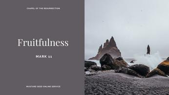 MSS: Fruitfulness (Mark 11) - 11 October 2020