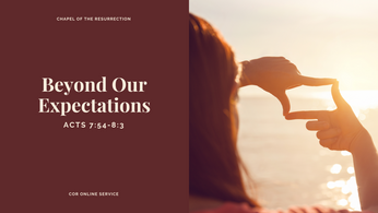 Beyond Our Expectations: 17 - 18 October 2020