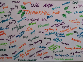 Insightful Reflections...our students are thankful and we are too!