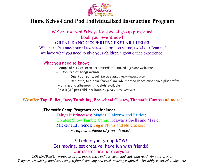 Home School and Pod Flier for website 20