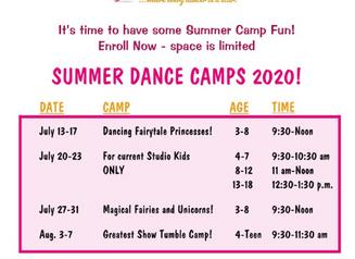 SUMMER FUN!  Our summer dance camps begin next week!  Check out our schedule below: