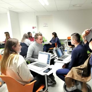 Atelier simulation d'entretien d'embauche avec mes élèves de Master - Novembre 2019