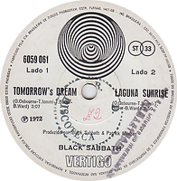 Black Sabbath - Tomorrow's Dream / Laguna sunrise - Brasil - Vertigo  6299 003 - 1974 - Side 2