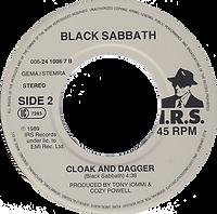 Black Sabbath - Headless Cross / Cloak And Dagger - Netherlands - I.R.S. 006-24 1006 7 - 1989 - Side 2