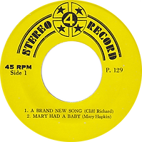 Cliff Richard - A Brand New Song / Mary Hopkin - Mary Had a Baby / Black Sabbath - Changes / Rod Stewart - What's Made.. Stereo- Thailand - 4 Record P.129- 197?- Side 1