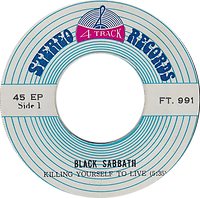 Black Sabbath - Killing Yourself To Live / Looking For Today / Who Are You - Thailand - 4 Track FT.991 - 197?- Side 1