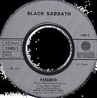 Black Sabbath  - Paranoid / Sabbath Bloody Sabbath - France - Arabella 102 280-1978 - Side 1
