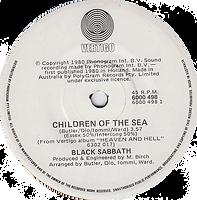 Black Sabbath - Children Of The Sea / Lady Evil - Australia - Vertigo 60000 498- 1980