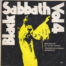 Black Sabbath - Snowblind / St.Vitus Dance / Tomorrow's Dream / Supernaut - Thailand - LBT 145 - 197?- Front
