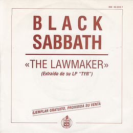 The Lawmaker / The Lawmaker - Spain -  I.R.S./Hipsavox 006 4023137- 1990 - Promo - Front
