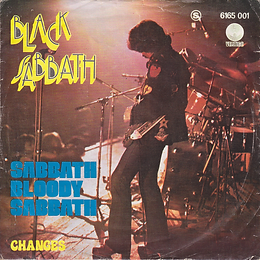 Black Sabbath  - Sabbath Bloody Sabbath / Changes - Portugal - Vertigo  6165 001 - 1973 - Front with dark blue letters