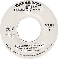 Black Sabbath - Radio  Spot for the LP Black Sabbath Warner Bros Pro 417 - 1970  - Promo USA - Side 1