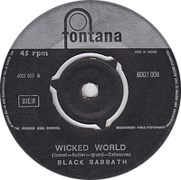 Black Sabbath - Evil Woman / Wicked World - Greece - Fontana 6007 008 - 1970 - Side 2