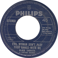 Black Sabbath - Black Sabbath / Evil Woman Don't Play Your Games With Me  - Phillipines - Philips PHI-1178 - 197? - Side 2