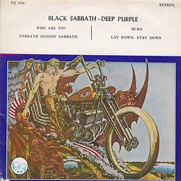 Black Sabbath - Who Are You / Sabbath Bloody Sabbath / Deep Purple - Burn / Lay Down, Stay Down - Thailand -PN 098 - 197?- Side 1