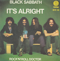 Black Sabbath - It's Alright / Rock'n'Roll Doctor - Italy - Vertigo  6079 100 - 1976 - Front