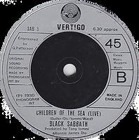 Black Sabbath - Neon Knights / Children Of The Sea (Live) - UK - Vertigo SAB 3- 1980 - side 2