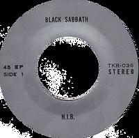 Black Sabbath - N.I.B. / Behind The Wall Of Sleep / The Wizard - Thailand - TKR -036 - 197?- Side 1