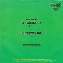 Black Sabbath - Paranoid / Snowblind - Yugoslavia - Beograd Disc SVKS 3019- 1980 - Green back
