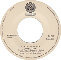 Black Sabbath - Children Of The Grave / Solitude - Portugal - Vertigo  6059 050 - 1970 - Side 2