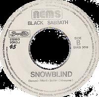 Black Sabbath - Paranoid / Snowblind - Yugoslavia - Beograd Disc SVKS 3019- 1980 - Side B