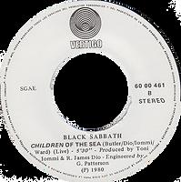 Black Sabbath - Neon Knights / Children Of The Sea - Spain - Vertigo 6000 461 - 1980 - Side 2