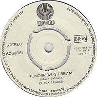 Tomorrow's Dream / Laguna Sunrise - Greece - Vertigo 6159 061 - 1972