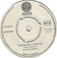 Tomorrow's Dream / Laguna Sunrise - Greece - Vertigo 6159 061- 1972