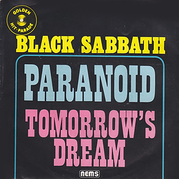 Black Sabbath - Paranoid / Tomorrow's Dream - Netherlands - Nems 79.800-Y - 1979 - Front