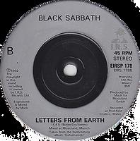 Black Sabbath - TV Crimes / Letter From Earth (Alternative Version) Poster sleeve - UK - I.R.S. EIRS 178- 1992 - Side 2