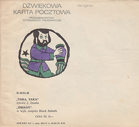Black Sabbath  - Zmiany (Changes) / J.Dassin - Taka, Taka - Poland - R-0125-II - 197? - Envelope