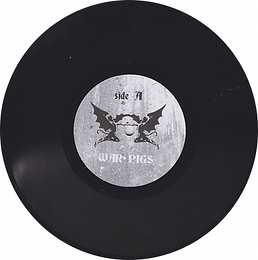 War Pigs / Paranoid Ltd ed of 50 copies in clear vinyl. Live at Santa Monica USA 09-04-75