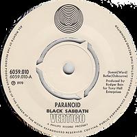 Black Sabbath - Paranoid / The Wizard - Norway - Vertigo 6059 010- 1970 - Side 1