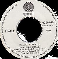 Black Sabbath - Paranoid / The Wizard - Spain - Vertigo 6059 010- 1970 - Side 2