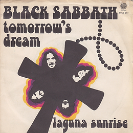 Black Sabbath - Tomorrow's Dream / Laguna Sunrise - Italy - Vertigo  6059 061 - 1972 - Front