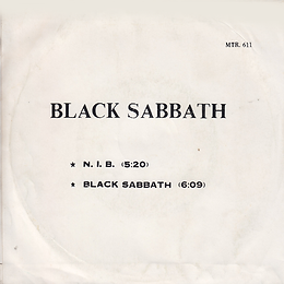 Black Sabbath - N.I.B / Black Sabbath - Thailand - MTR 611 - 197?- Back