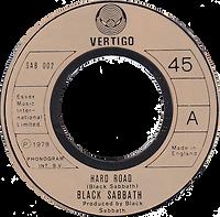 Black Sabbath - Hard Road / Symtom Of The Universe - UK - Vertigo SAB 002- 1978 - Black vinyl brown label
