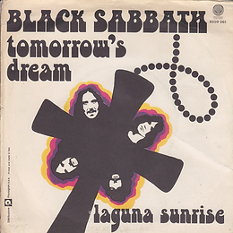 Black Sabbath - Tomorrow's Dream / Laguna Sunrise - Italy - Vertigo  6059 061 - 1972 - Back