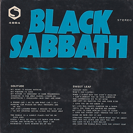 Black Sabbath - Solitude / Sweet Leaf - Singapore - S BS-4884 - 1972 - Back